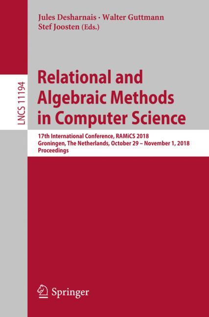 Cover of 'Relational and Algebraic Methods in Computer Science'