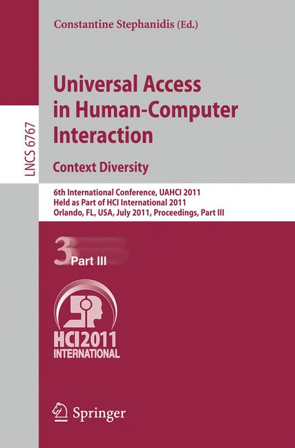 Cover of 'Universal Access in Human-Computer Interaction. Context Diversity'