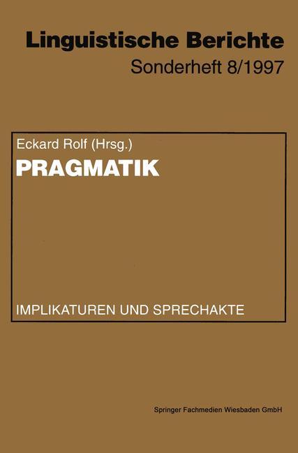 Cover of 'Pragmatik'