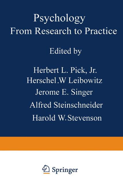 Cover of 'Psychology: From Research to Practice'