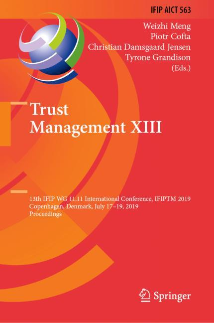 Cover of 'Trust Management XIII'