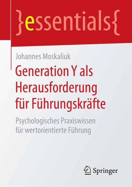 Cover of 'Generation Y als Herausforderung für Führungskräfte'