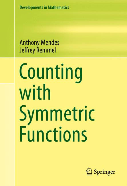 Cover of 'Counting with Symmetric Functions'