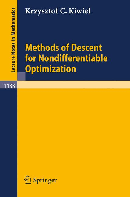 Cover of 'Methods of Descent for Nondifferentiable Optimization'