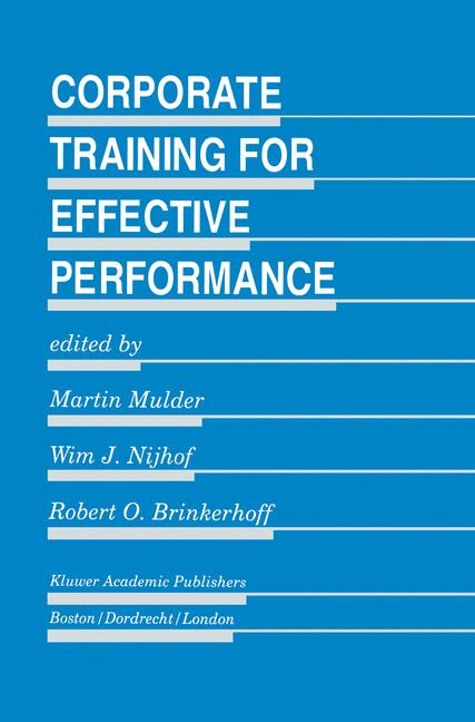 Cover of 'Corporate Training for Effective Performance'