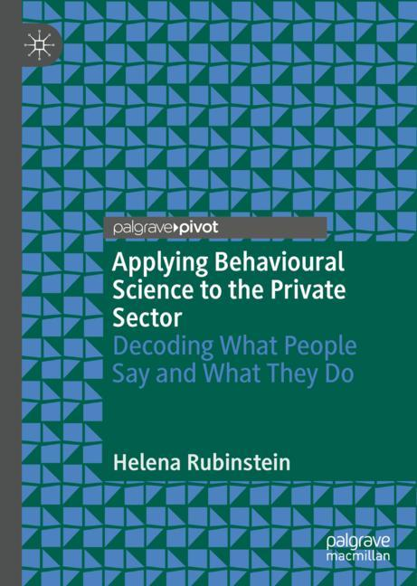 Cover of 'Applying Behavioural Science to the Private Sector'