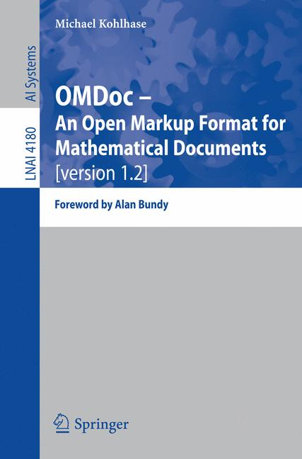 Cover of 'OMDoc -- an open markup format for mathematical documents : (version 1.2)'