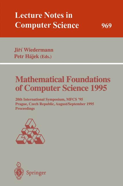 Cover of 'Mathematical Foundations of Computer Science 1995'