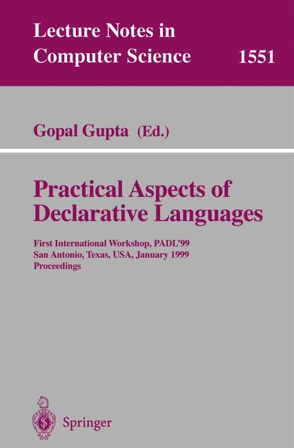 Cover of 'Practical Aspects of Declarative Languages'