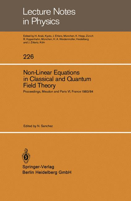 Cover of 'Non-Linear Equations in Classical and Quantum Field Theory'