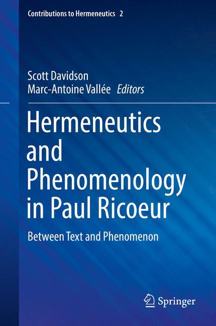 Cover of 'Hermeneutics and Phenomenology in Paul Ricoeur'