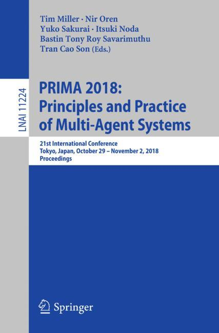 Cover of 'PRIMA 2018: Principles and Practice of Multi-Agent Systems'