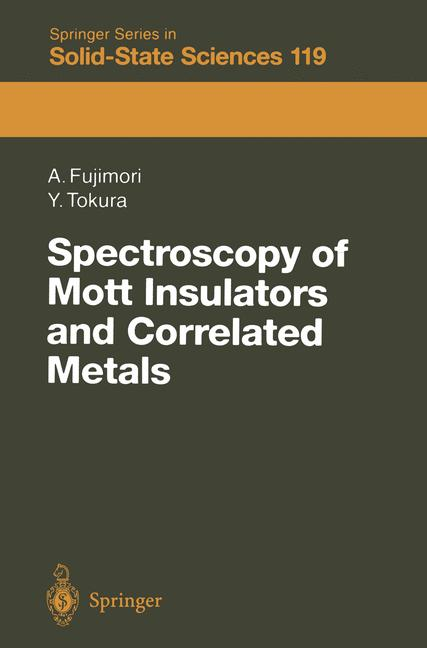 Cover of 'Spectroscopy of Mott Insulators and Correlated Metals'