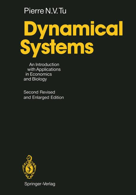 Cover of 'Dynamical systems : an introduction with applications in economics and biology'