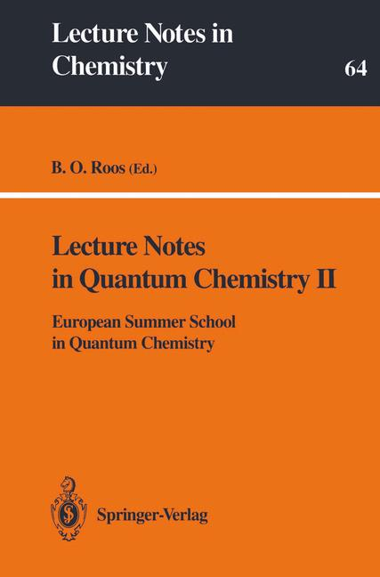 Cover of 'Lecture Notes in Quantum Chemistry II'