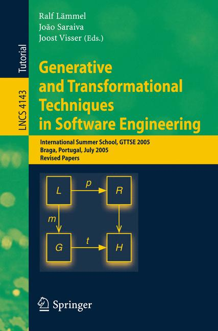 Cover of 'Generative and Transformational Techniques in Software Engineering'