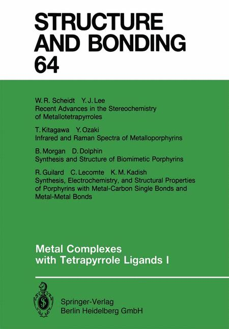 Cover of 'Metal Complexes with Tetrapyrrole Ligands I'