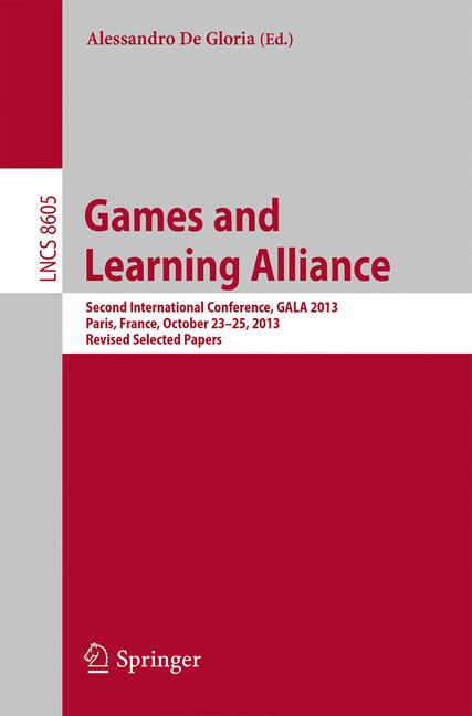 Cover of 'Games and Learning Alliance'
