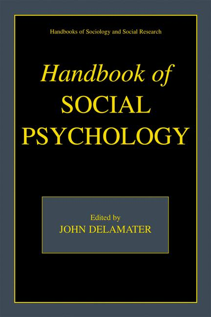 Cover of 'Handbook of Social Psychology'