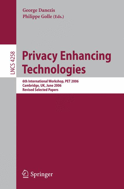 Cover of 'Privacy Enhancing Technologies'