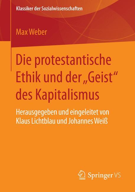 """Cover of 'Die protestantische Ethik und der """"Geist"""" des Kapitalismus'"""