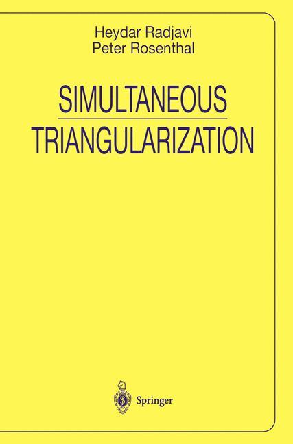 Cover of 'Simultaneous Triangularization'