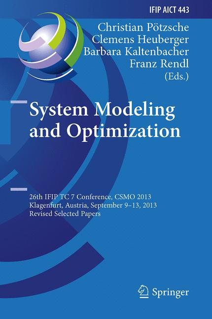 Cover of 'System Modeling and Optimization'