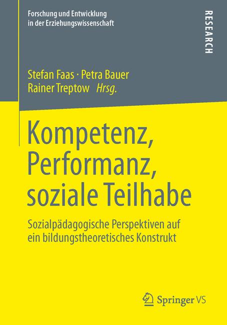 Cover of 'Kompetenz, Performanz, soziale Teilhabe'