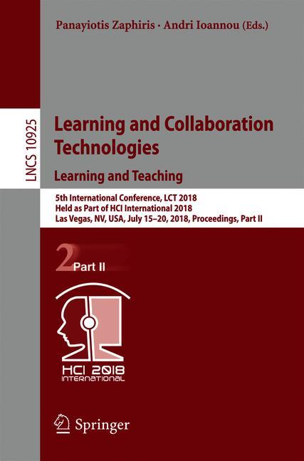 Cover of 'Learning and Collaboration Technologies. Learning and Teaching'
