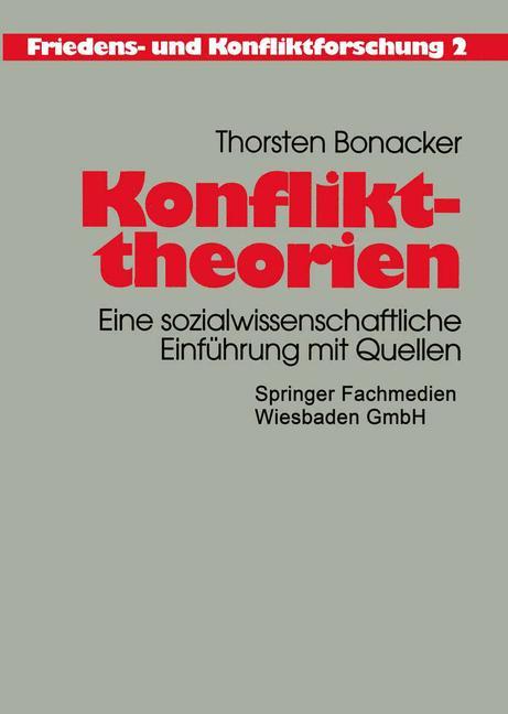Cover of 'Konflikttheorien'