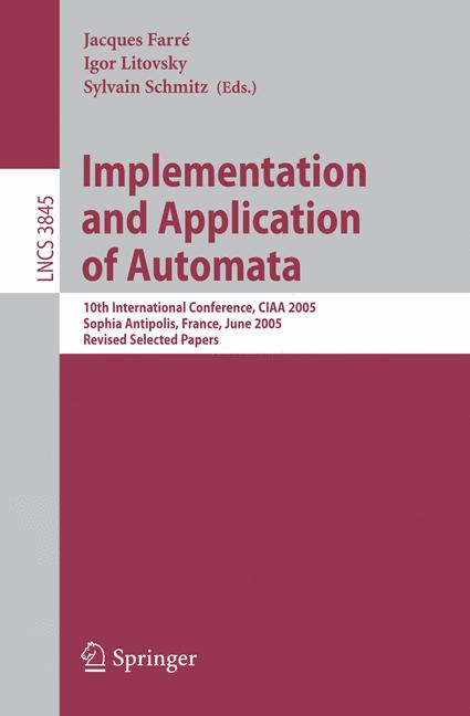 Cover of 'Implementation and Application of Automata'