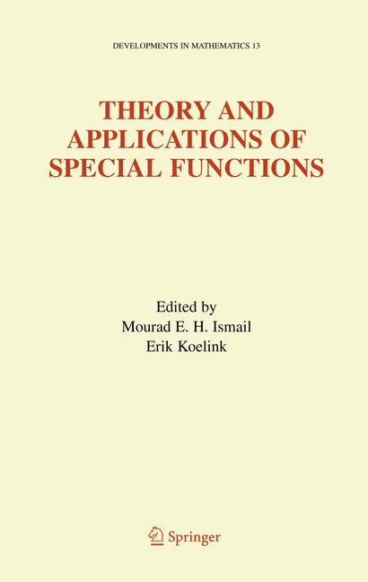 Cover of 'Theory and Applications of Special Functions'