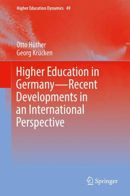 Cover of 'Higher Education in Germany—Recent Developments in an International Perspective'