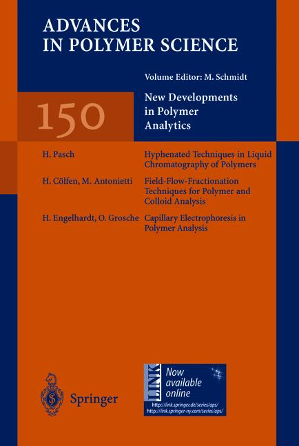 Cover of 'New Developments in Polymer Analytics I'