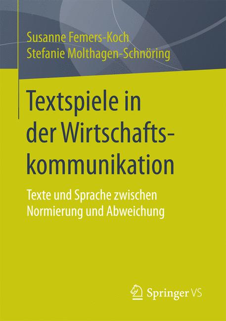 Cover of 'Textspiele in der Wirtschaftskommunikation'