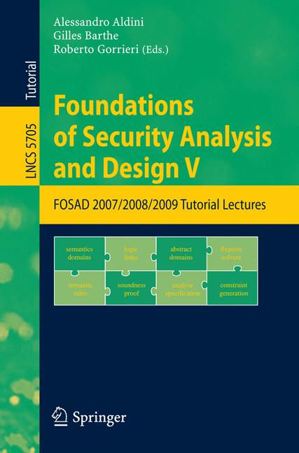 Cover of 'Foundations of Security Analysis and Design V'