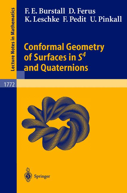 Cover of 'Conformal geometry of surfaces in S4 and quaternions'