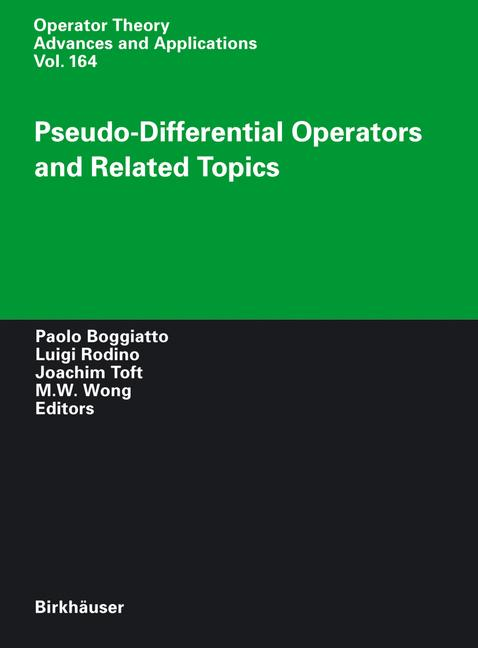 Cover of 'Pseudo-Differential Operators and Related Topics'