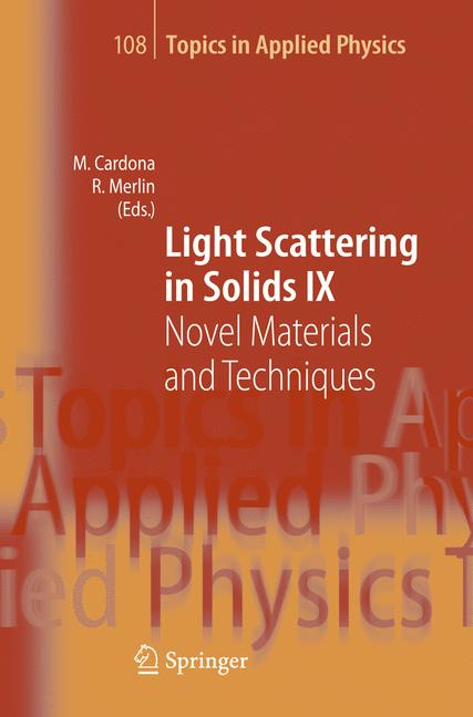 Cover of 'Light Scattering in Solid IX'