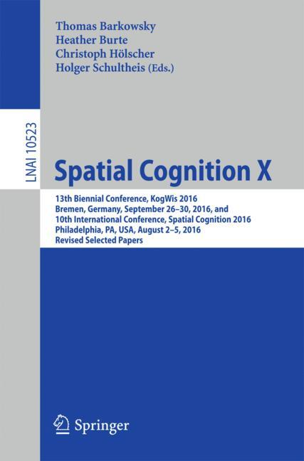 Cover of 'Spatial Cognition X'