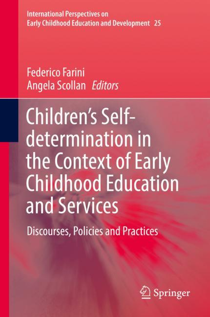 Cover of 'Children's Self-determination in the Context of Early Childhood Education and Services'
