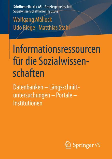 Cover of 'Informationsressourcen für die Sozialwissenschaften'