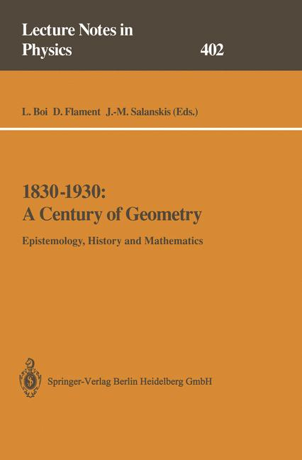 Cover of '1830–1930: A Century of Geometry'