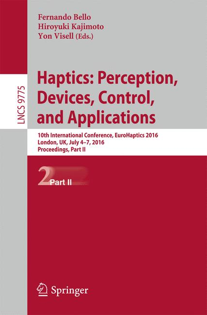 Cover of 'Haptics: Perception, Devices, Control, and Applications'