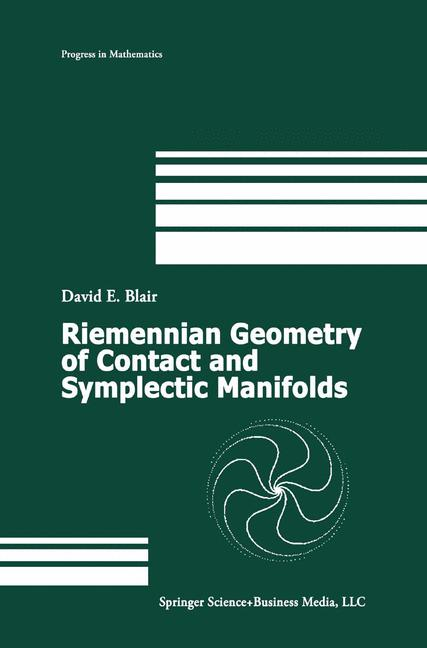 Cover of 'Riemannian Geometry of Contact and Symplectic Manifolds'