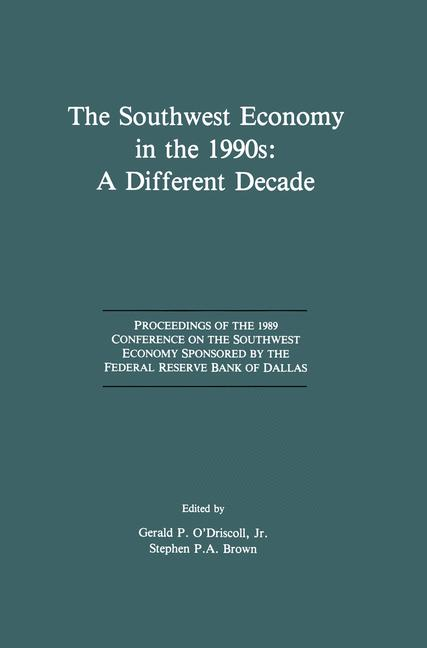 Cover of 'The Southwest Economy in the 1990s: A Different Decade'