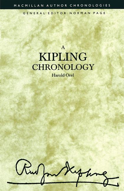Cover of 'A Kipling Chronology'