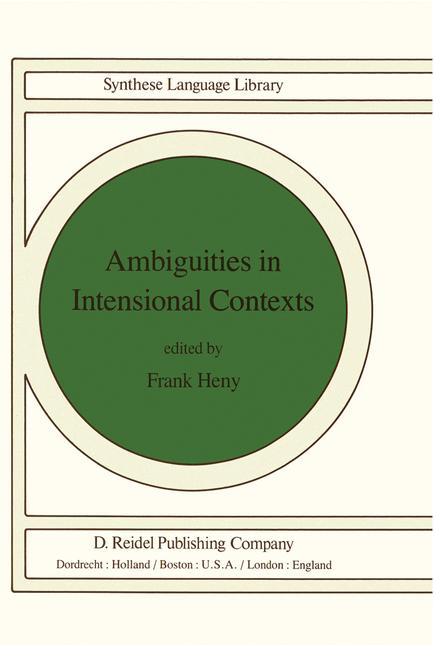 Cover of 'Ambiguities in Intensional Contexts'