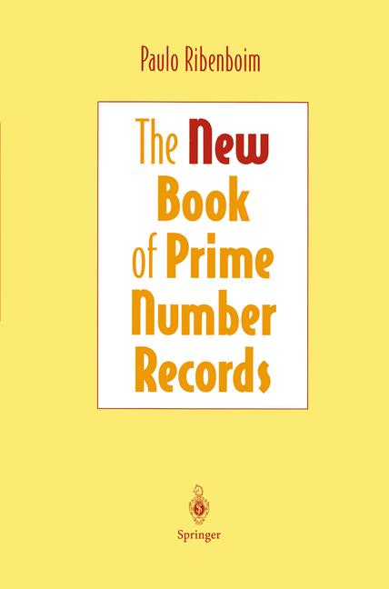 Cover of 'The New Book of Prime Number Records'