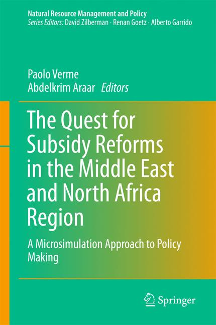 Cover of 'The Quest for Subsidy Reforms in the Middle East and North Africa Region'